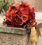 Öszi esküvő / Narancs, bordó, rozsdabarna színekkel